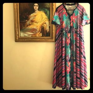 1790f71e998 Vintage Hawaiian Moo-moo Maxi Dress Cover-Up